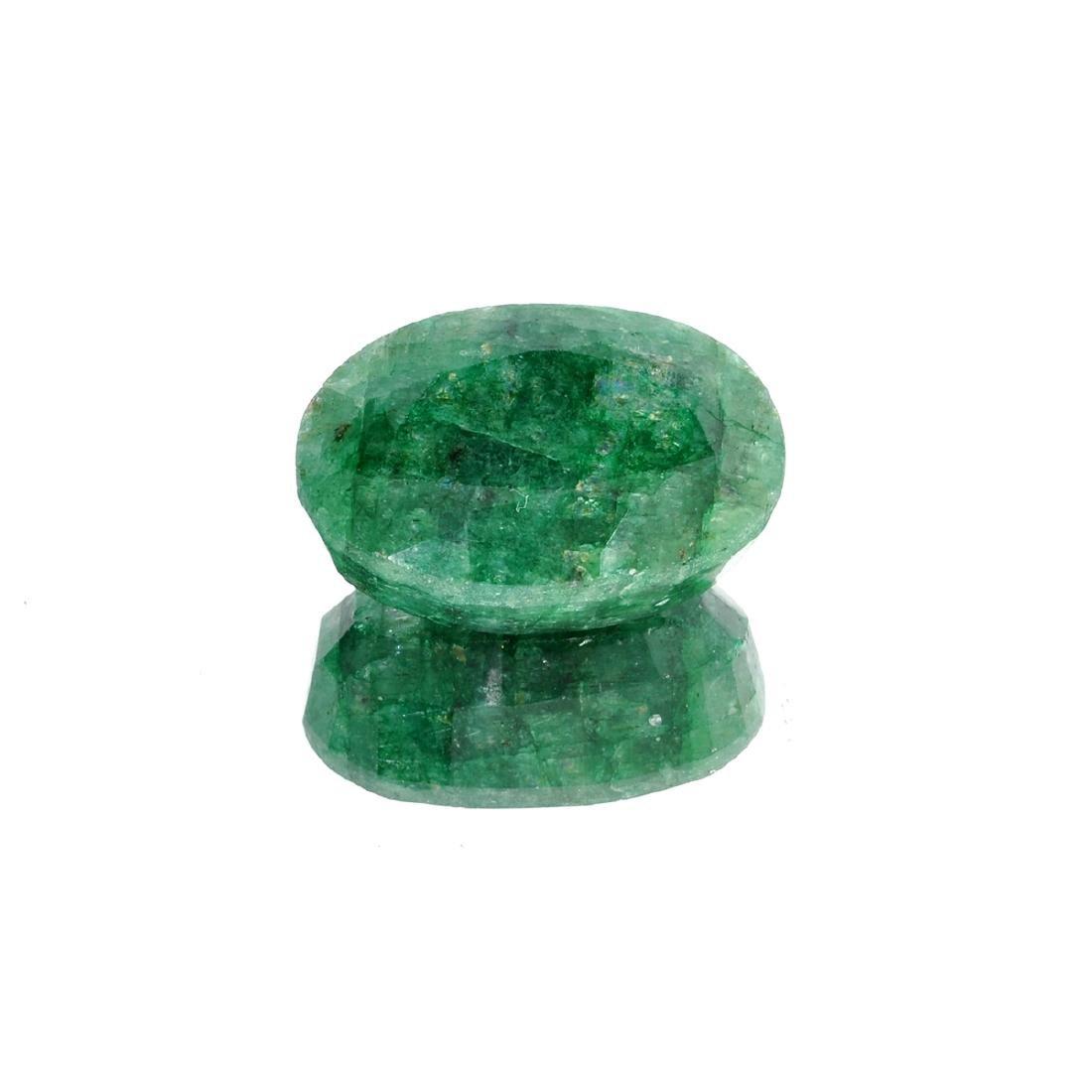APP: 5k 66.76CT Oval Cut Green Emerald Gemstone