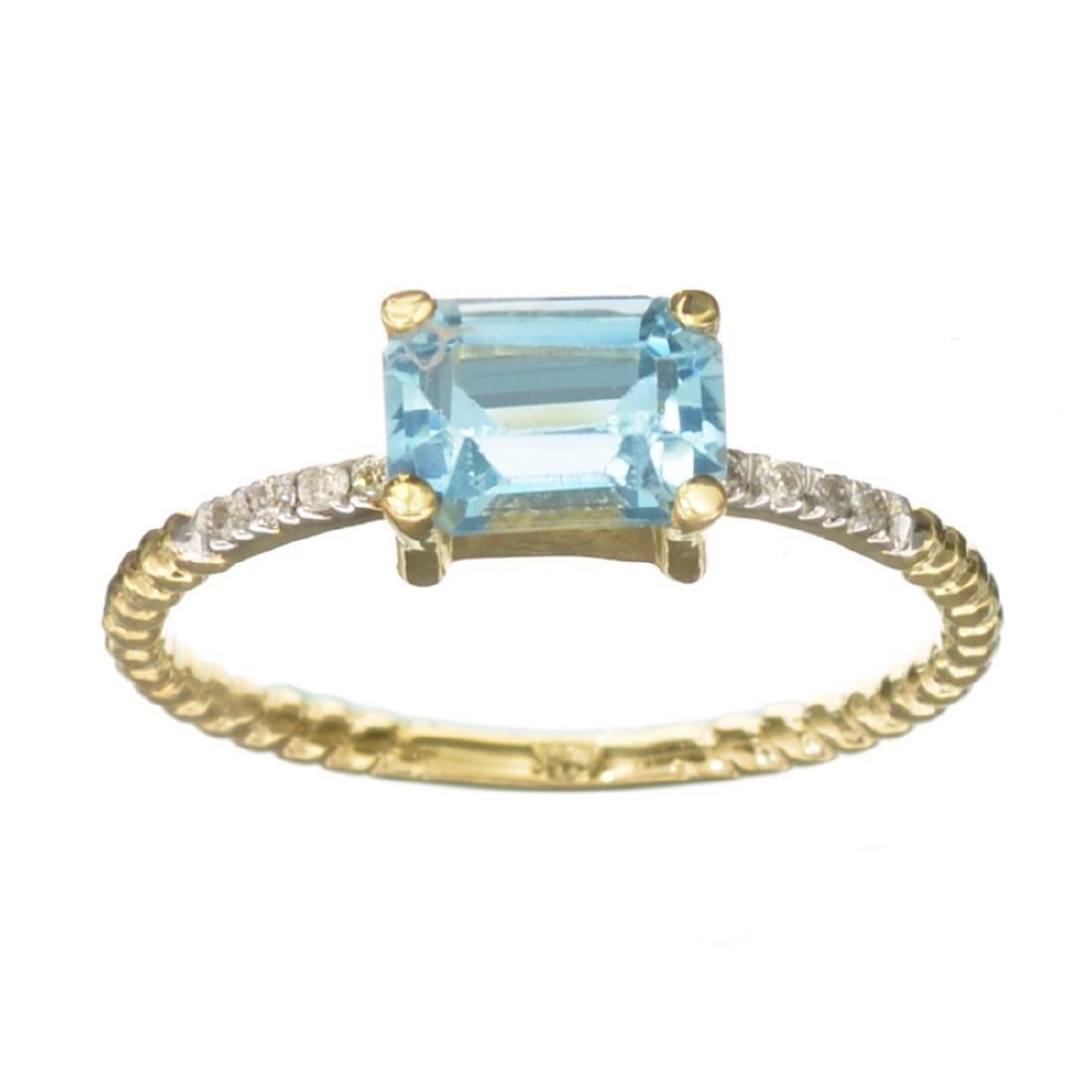 APP: 0.7k Fine Jewelry 14KT Gold, 1.38CT Blue Topaz