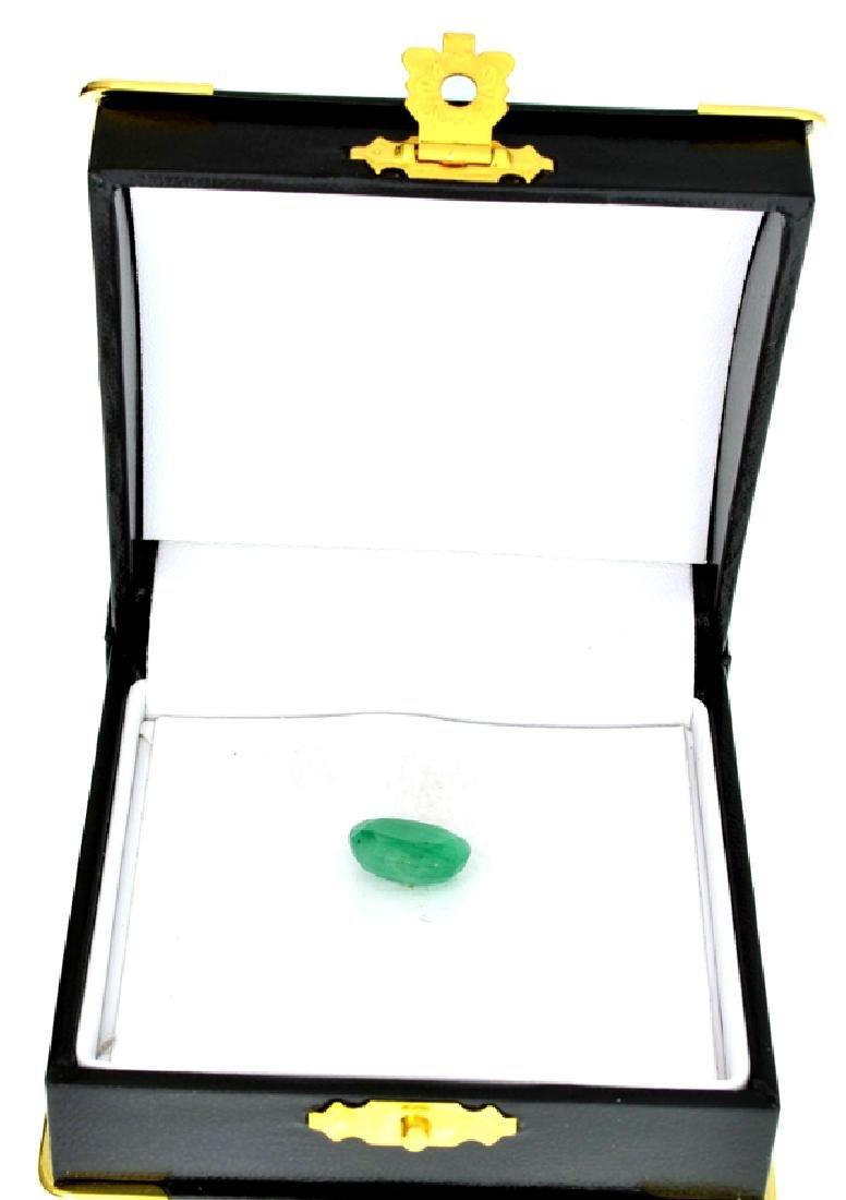 APP: 1.1k 4.89CT Oval Cut Green Emerald Gemstone