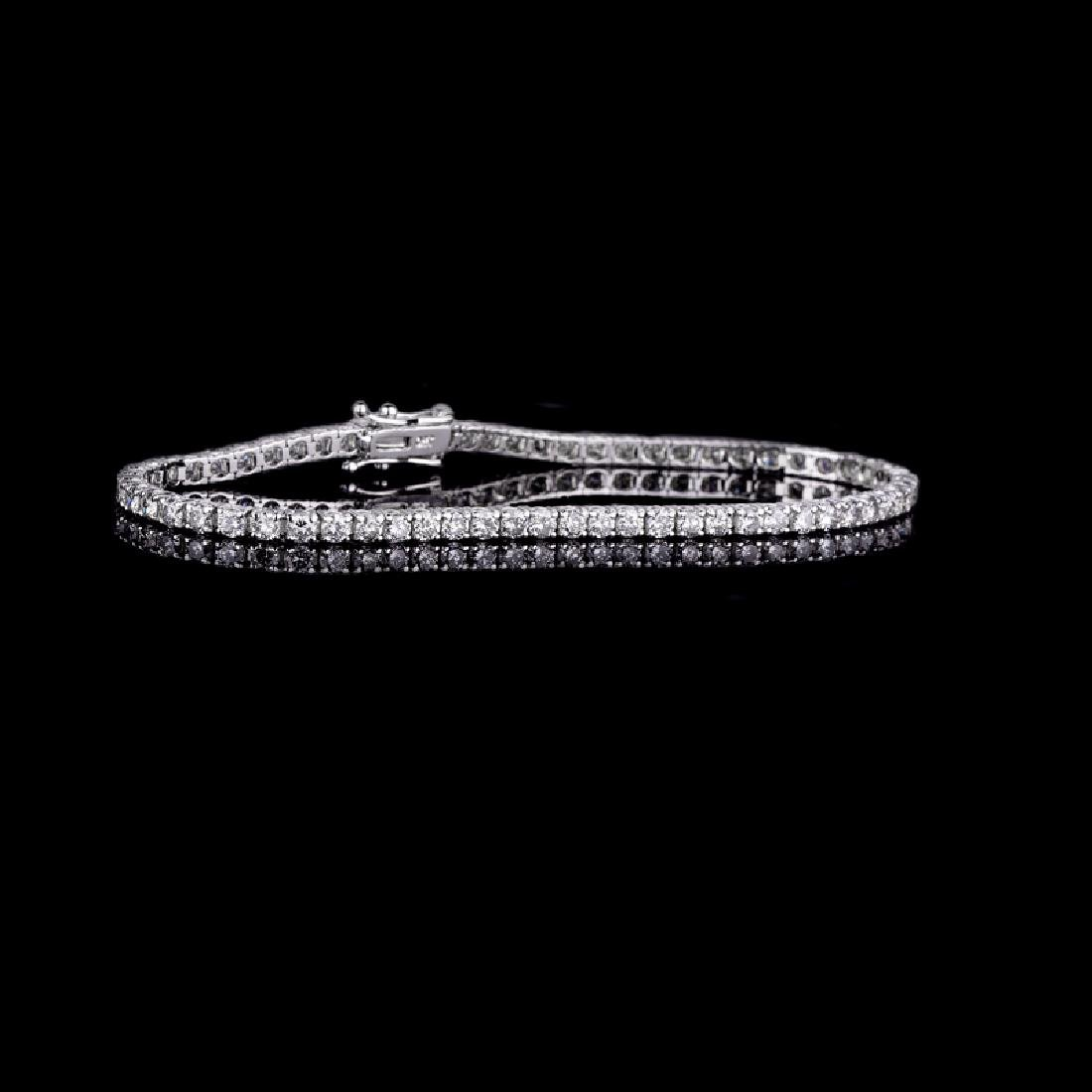 *Fine Jewelry 18 kt. White Gold, Custom Made 3.02CT