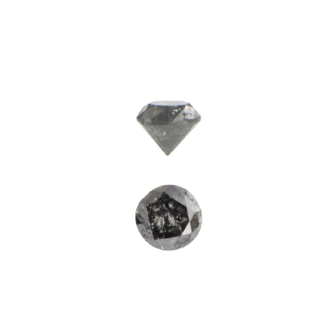 APP: 0.3k 0.34CT Round Cut Black Diamond Gemstone