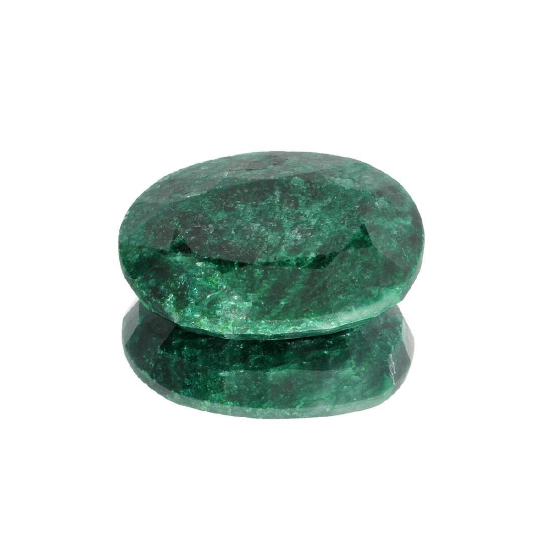 APP: 7k 93.04CT Oval Cut Green Emerald Gemstone