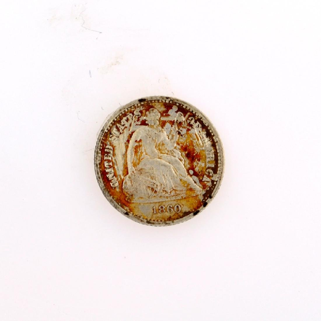 1860 Liberty Seated Half Dime Coin