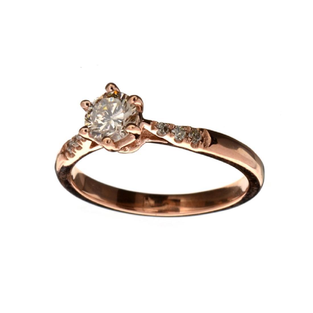 APP: 5.9k Fine Jewelry 14 kt. Rose Gold, 0.64CT Round
