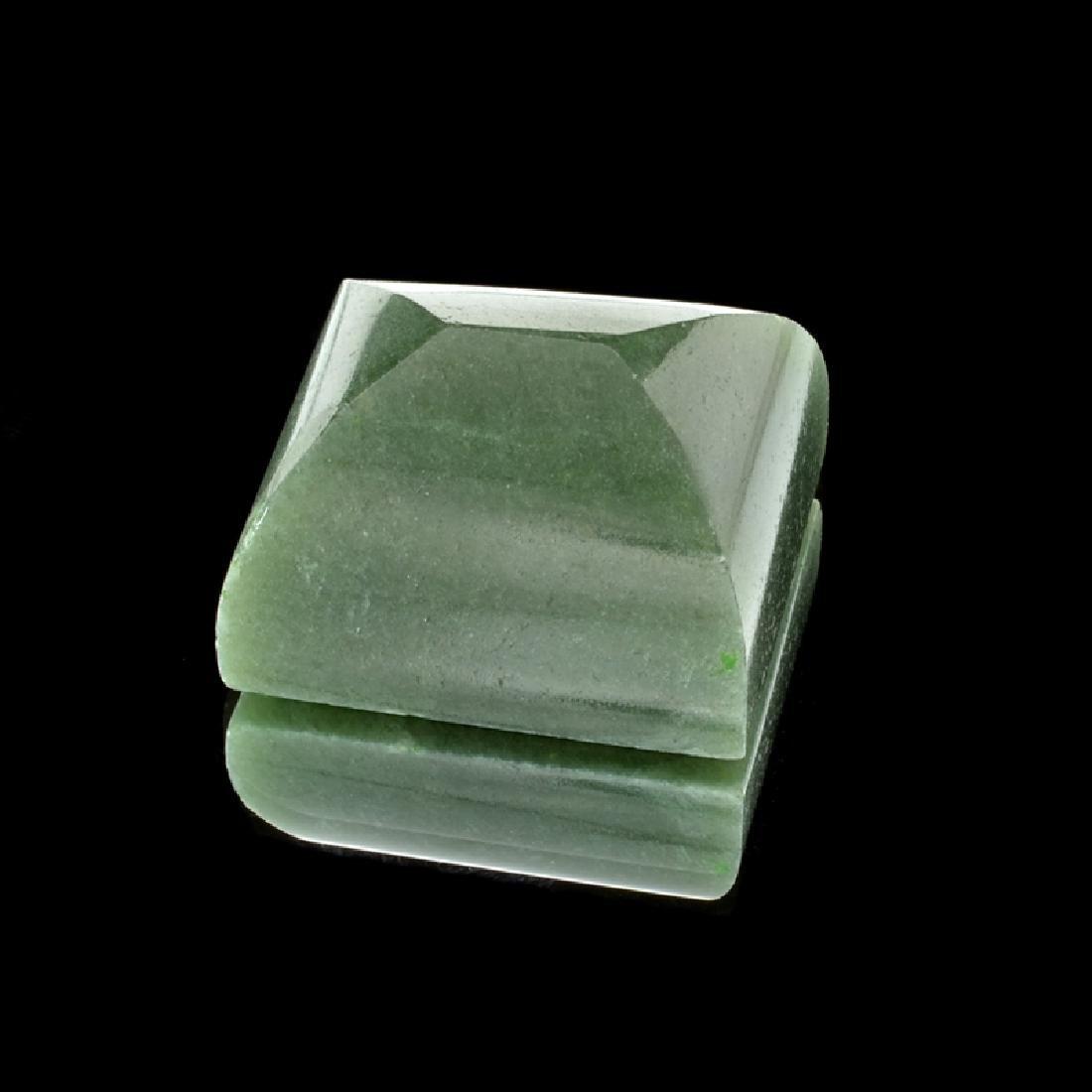 APP: 1.3k 161.44CT Rectangular Cut Cabochon Nephrite