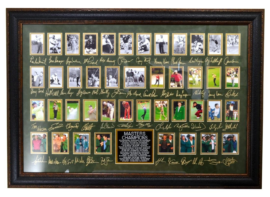 Very Rare Plate Signed Masters Golf Champions With