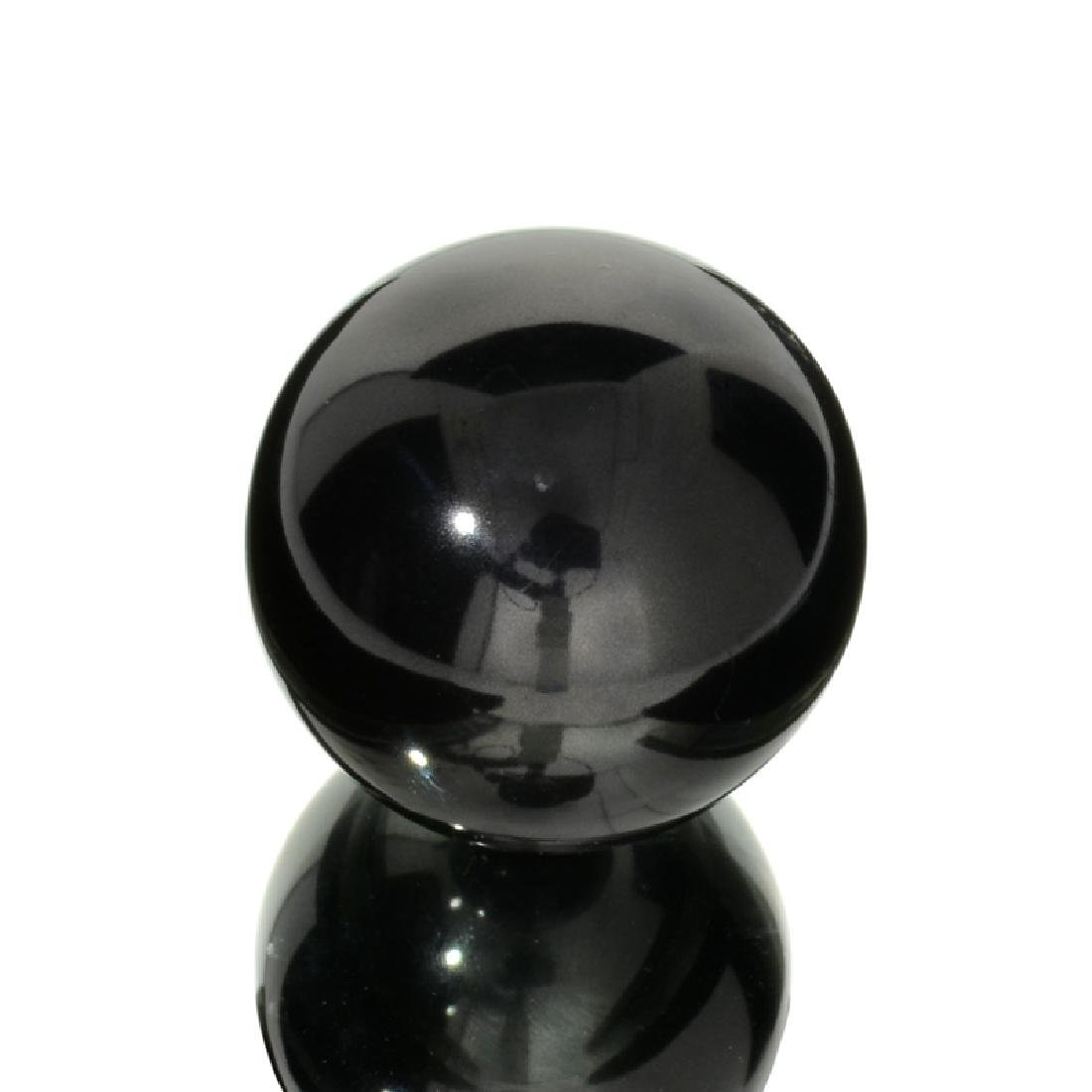 APP: 1.1k Rare 596.50CT Sphere Cut Black Agate Gemstone