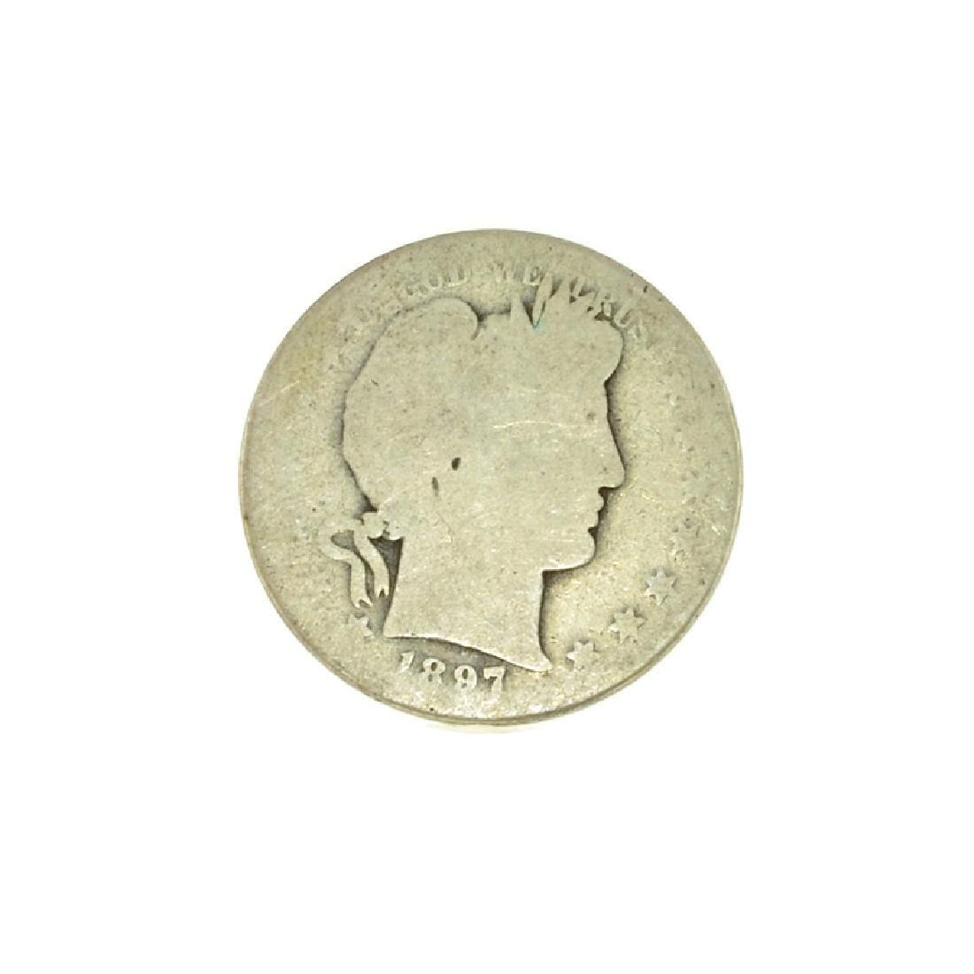 1897-S Barber Half Dollar Coin