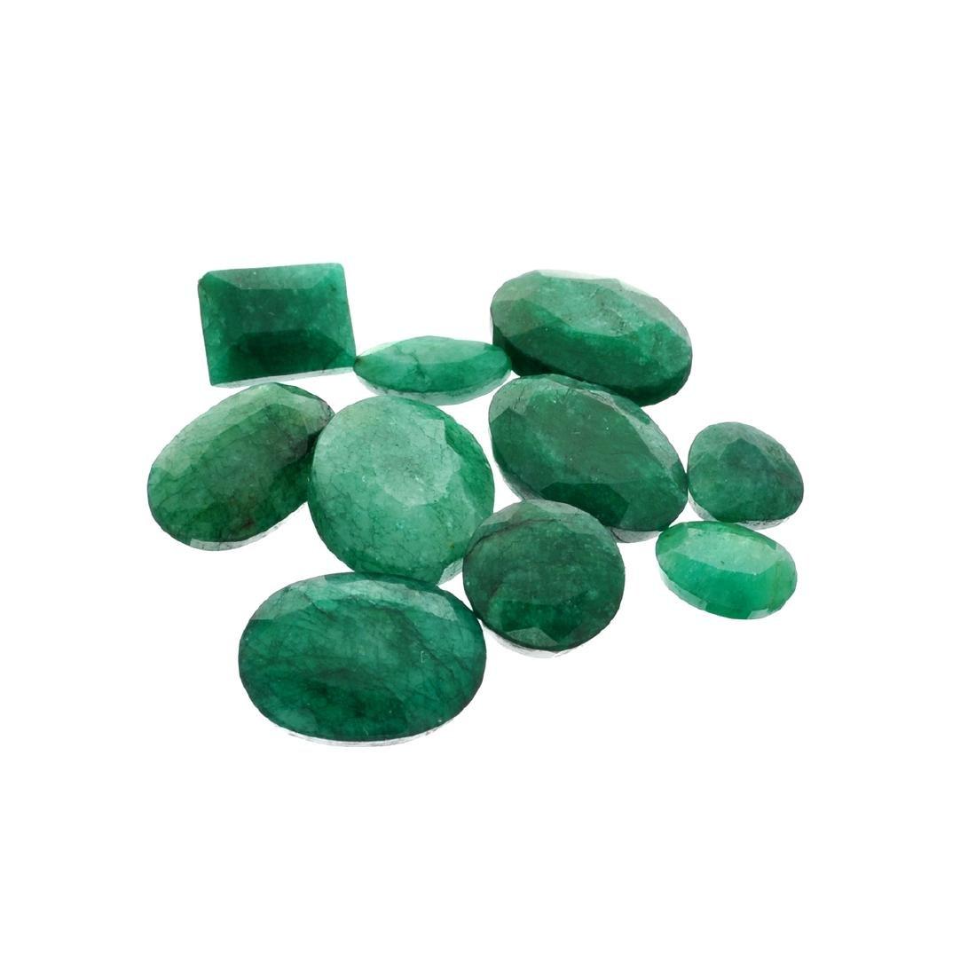 APP: 7.6k 101.14CT Various Shapes Green Emeral Parcel-
