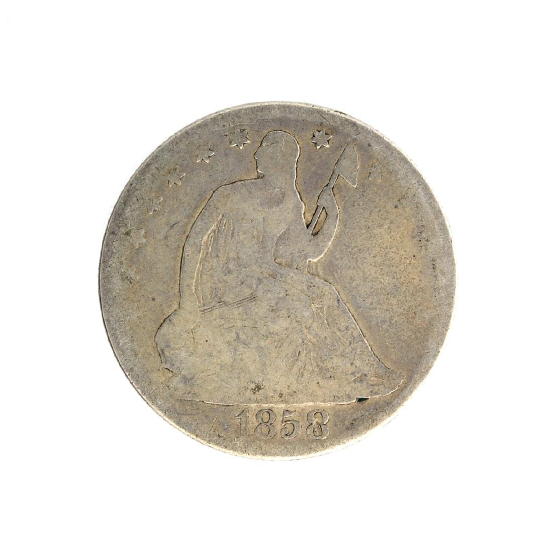 1858-O Liberty Seated Half Dollar Coin