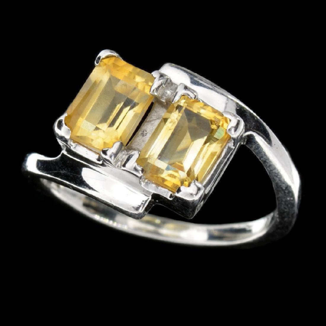 Fine Jewelry Designer Sebastian 2.50CT Emerald Cut Step