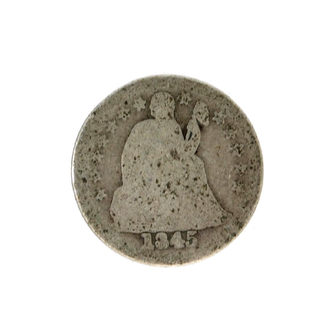 1845 Liberty Seated Dime Coin