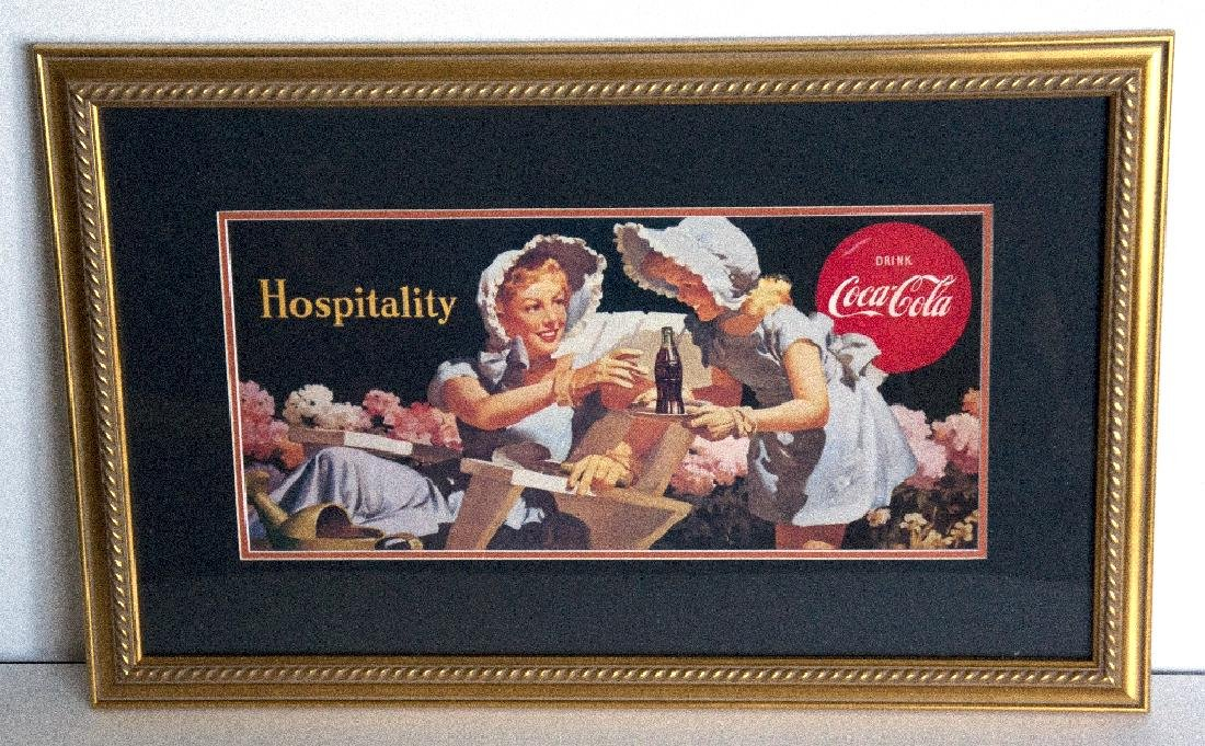 Museum Framed Coca-Coca Advertising  10.5x19.5