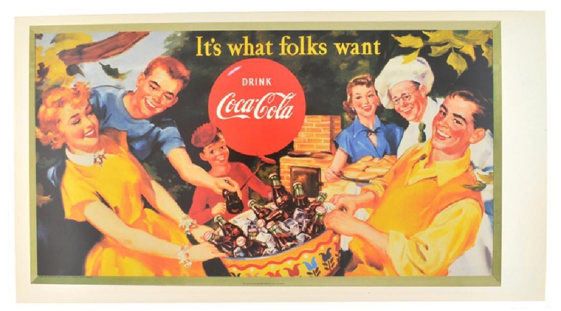 Collectable Coca Cola Advertising Poster (17.5'' x
