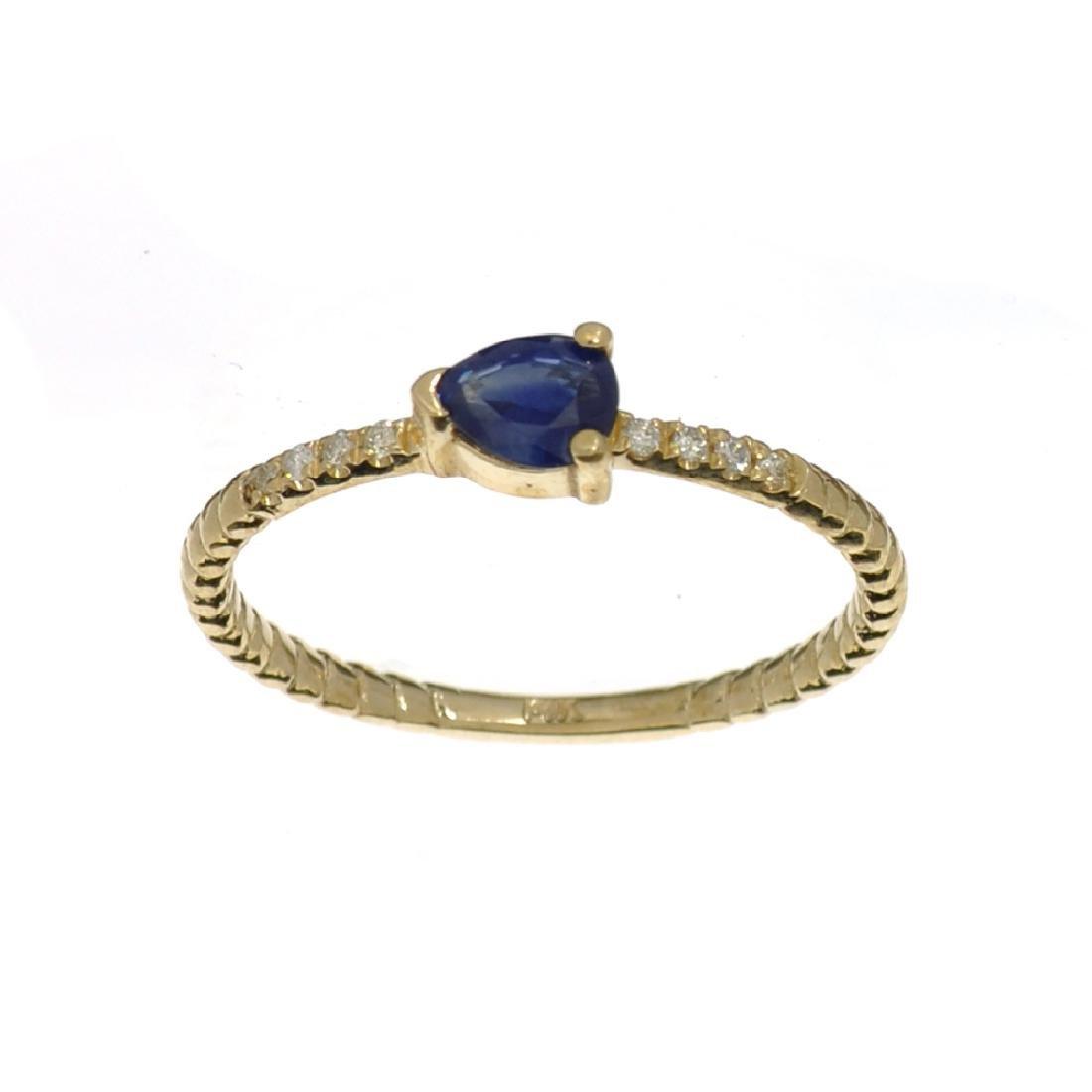 APP: 0.7k Fine Jewelry 14KT Gold, 0.37CT Blue Sapphire