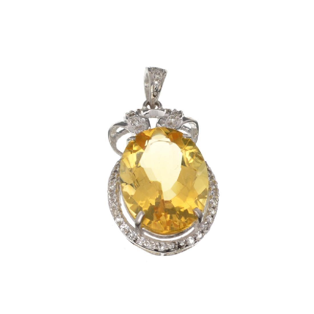 APP: 1.1k Fine Jewelry 11.65CT Citrine And White