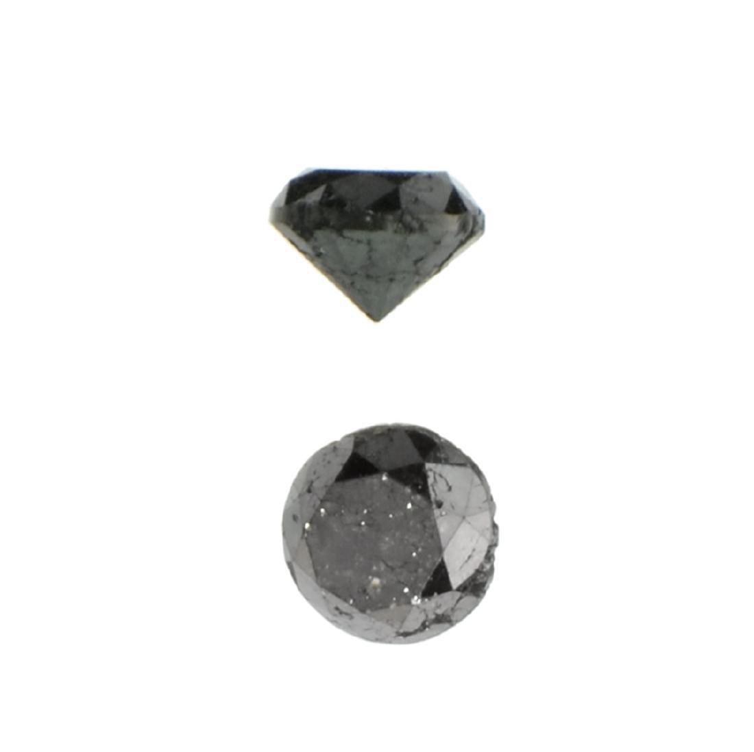 APP: 0.4k 0.51CT Round Cut Black Diamond Gemstone