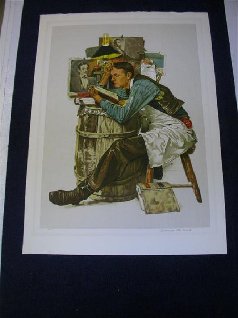 Norman Rockwell Lithograph - ''Law Student''
