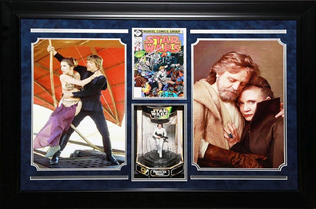 Mark Hamill and Carrie Fisher Collage