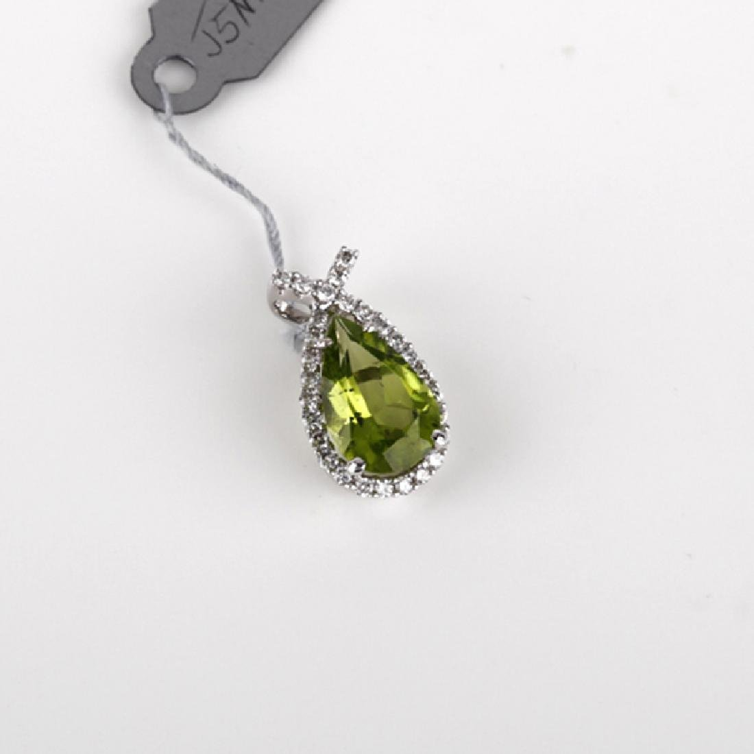 *Fine Jewelry 18KT Gold, 2.51CT Peridot And 0.32CT