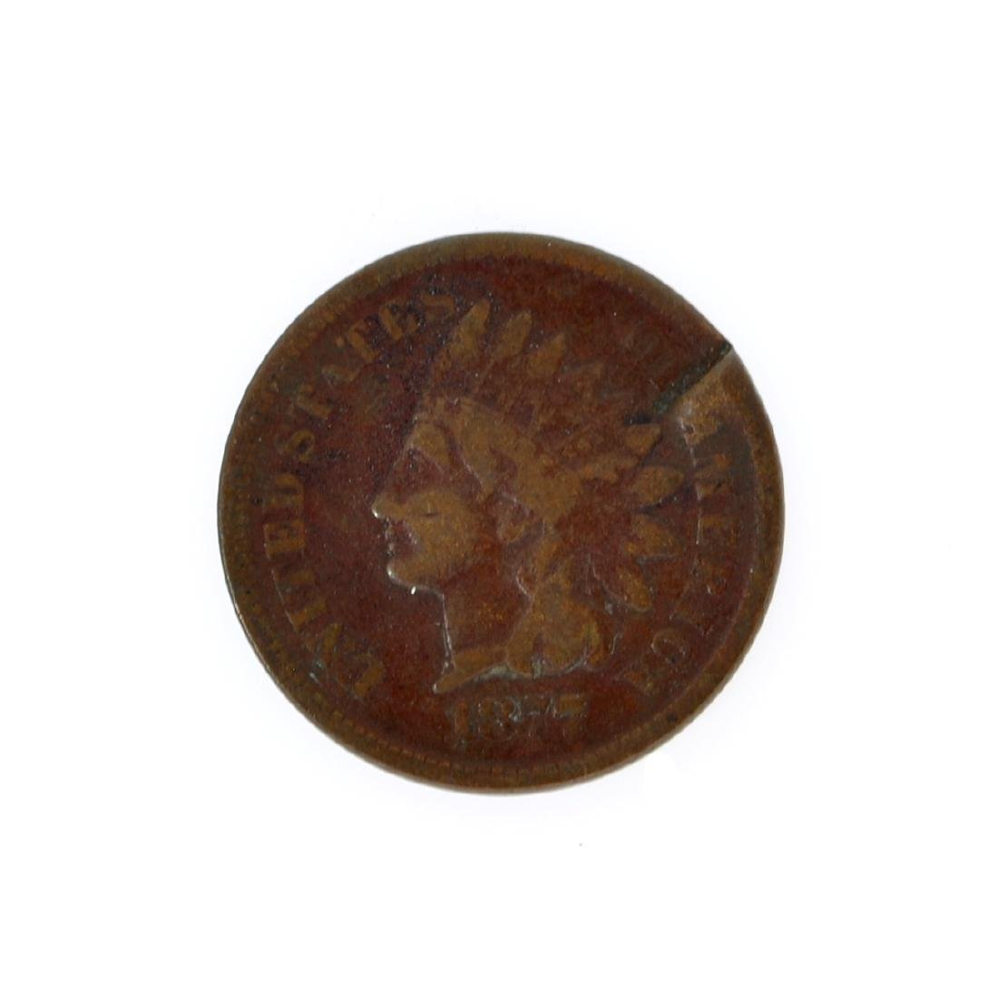 1877 Lincoln One Cent Key Date Coin