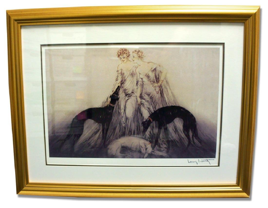 Icart (After) - Coursing III - Museum Framed Giclée