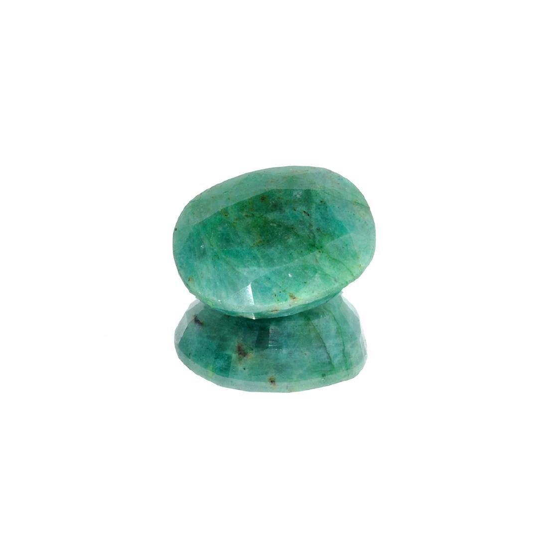 APP: 3k 39.93CT Oval Cut Green Emerald Gemstone