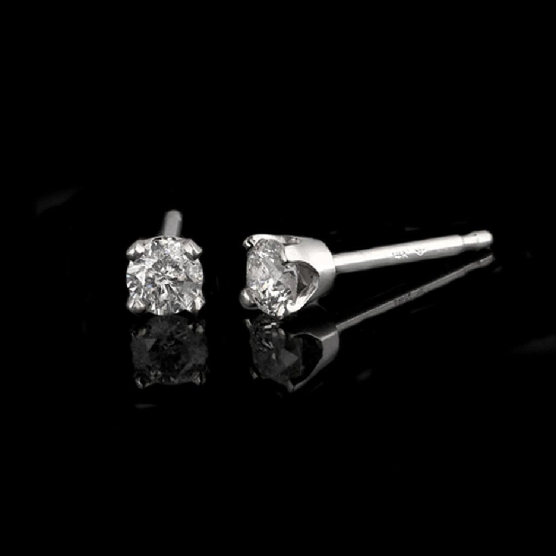 *Fine Jewelry 14 kt. White Gold, Custom Made 0.25CT