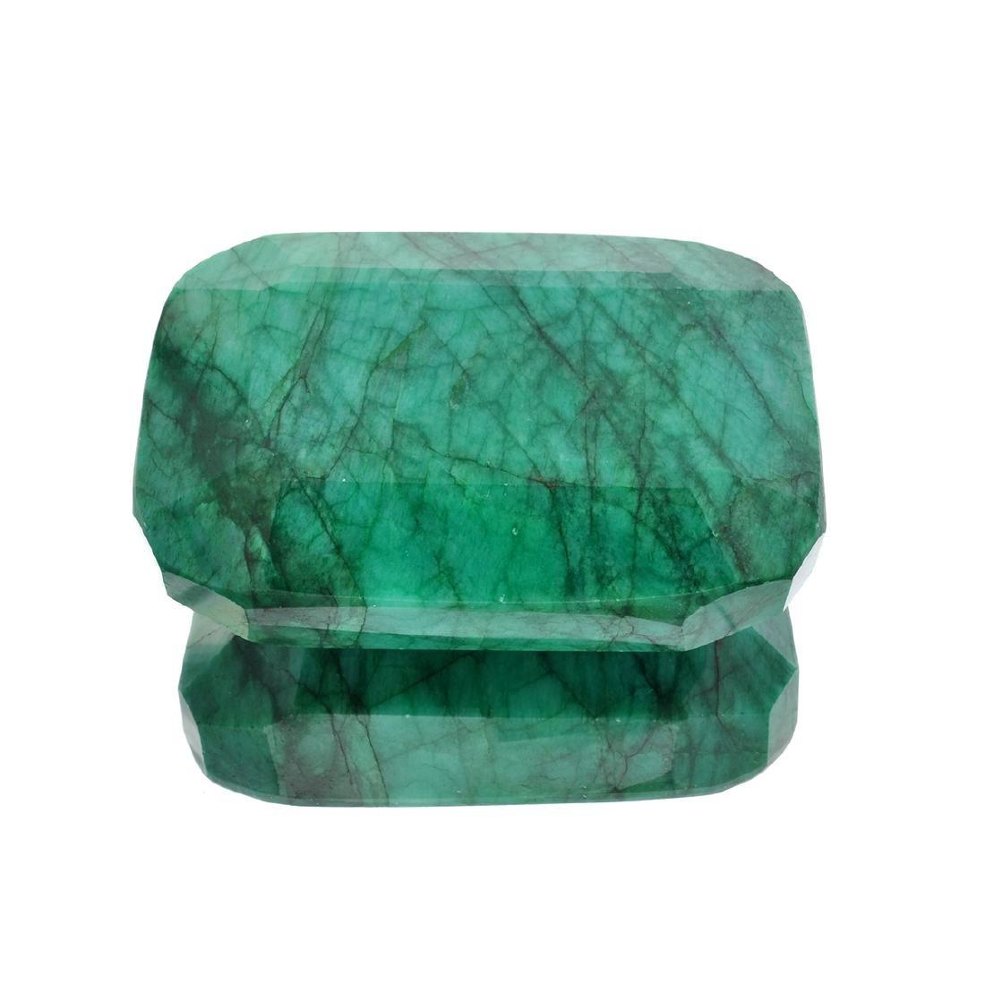 APP: 4.5k 1,803.55CT Rectangular Cushion Cut Green