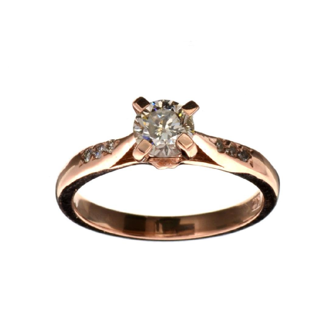 APP: 5.3k Fine Jewelry 14 kt. Rose Gold, 0.57CT Round