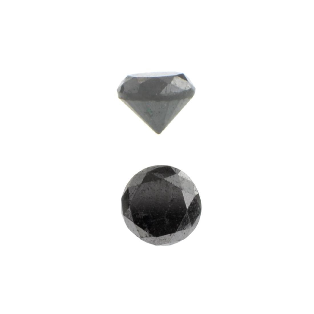 APP: 0.7k 0.85CT Round Cut Black Diamond Gemstone