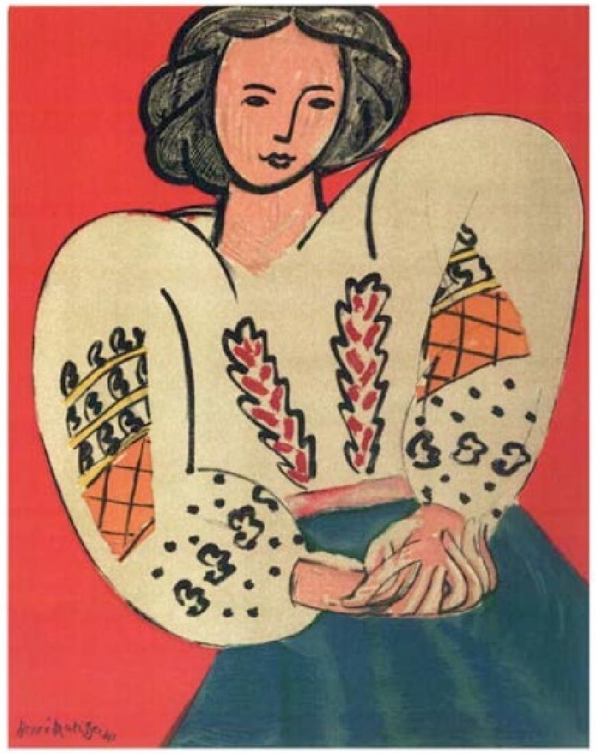 Henri Matisse ''''141 Mme M.P. The Rumanian Blouse''''