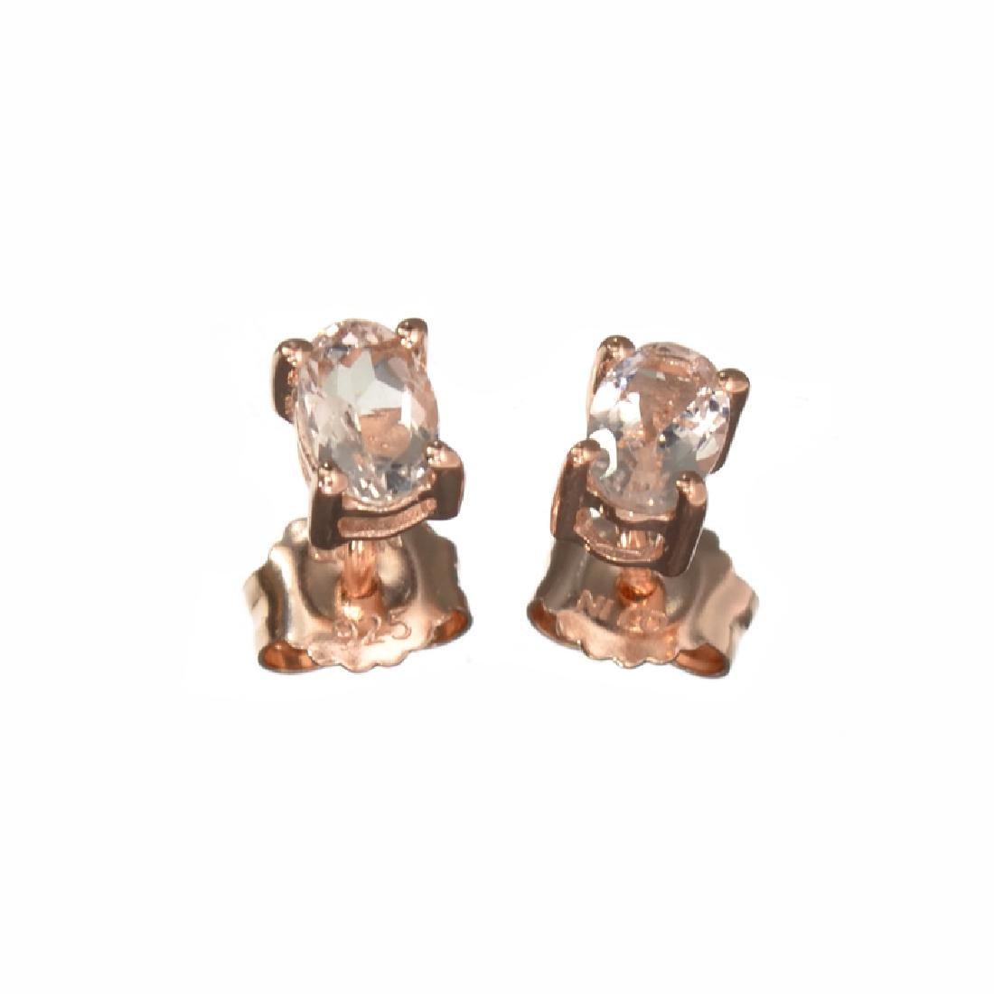 APP: 0.6k Fine Jewelry 0.90CT Oval Cut Morganite Over