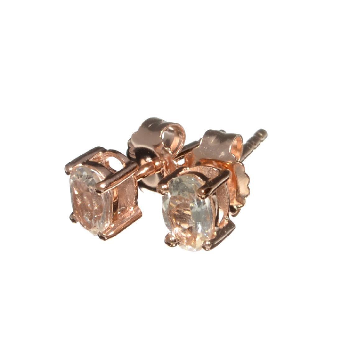 Fine Jewelry 0.85CT Oval Cut Morganite W A Rose Gold