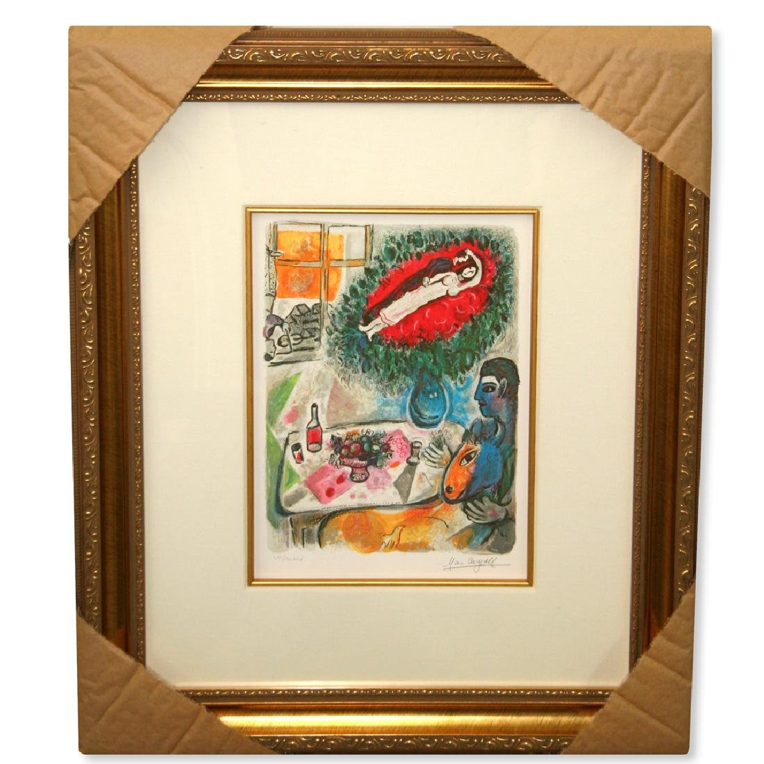 Chagall (After) 'Reverie' Museum Framed Giclee-Limited