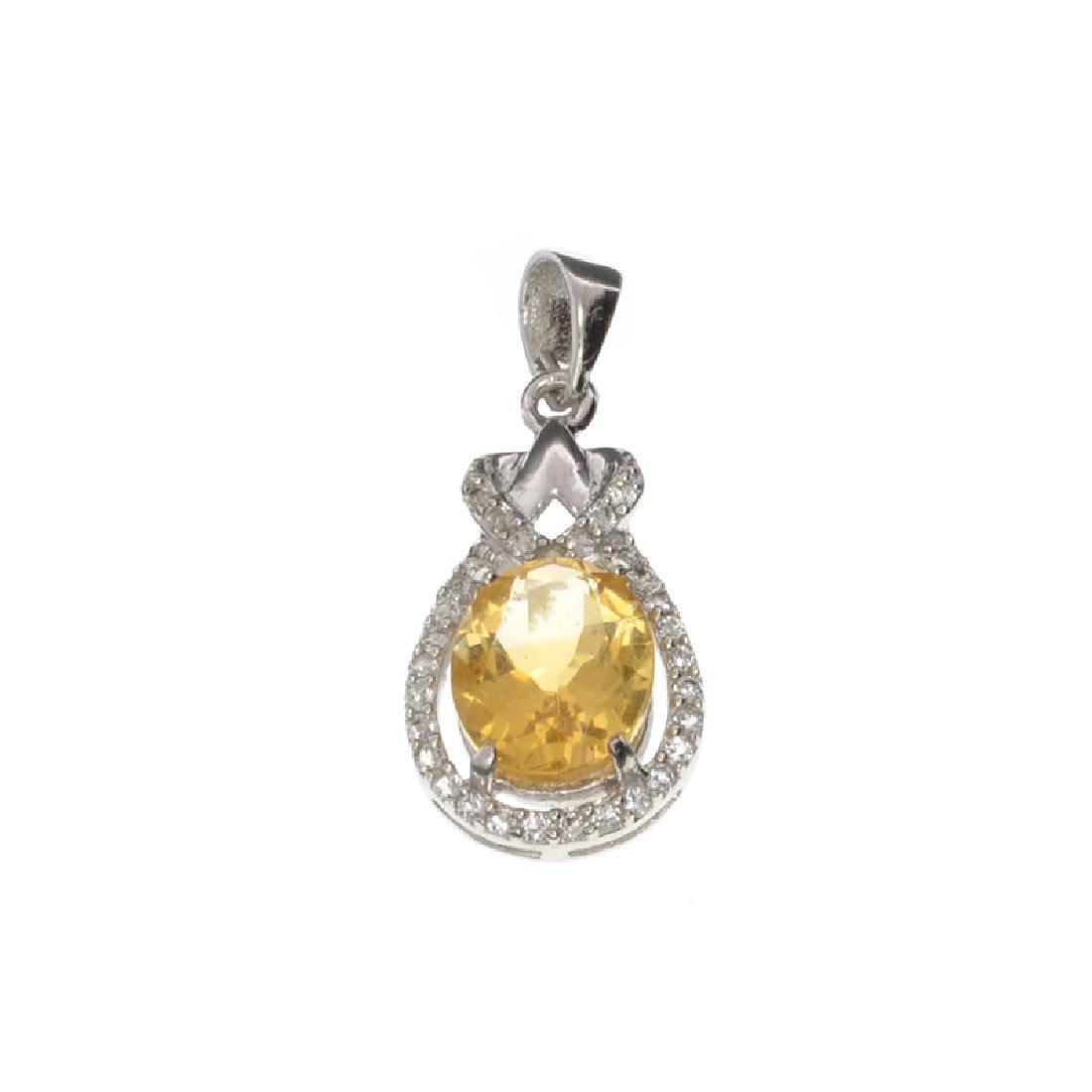 APP: 0.6k Fine Jewelry 2.50CT Citrine And White