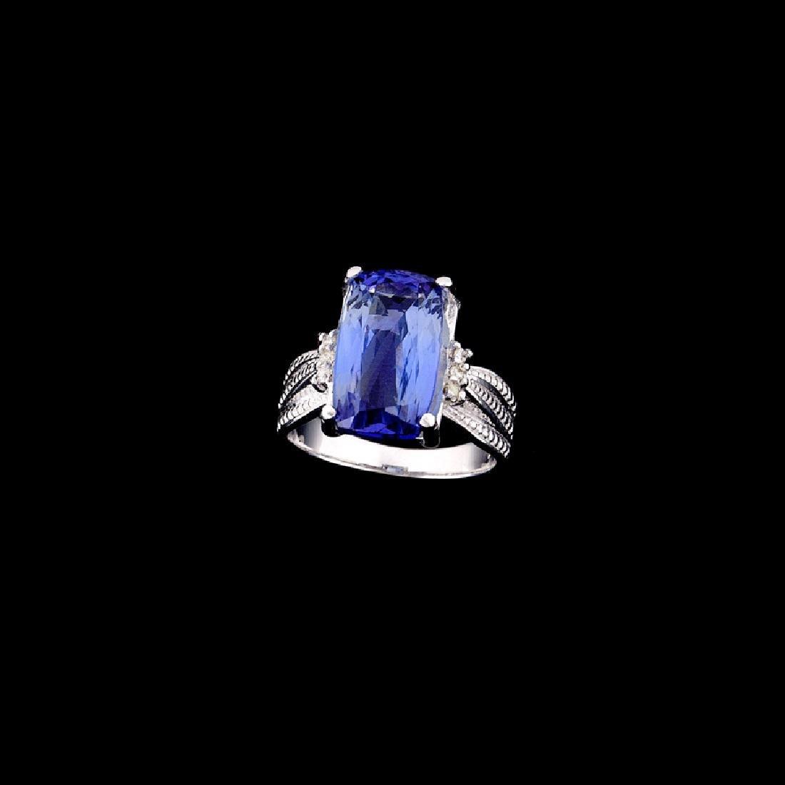 APP: 13k Fine Jewelry 14kt White Gold, 7.06CT Tanzanite