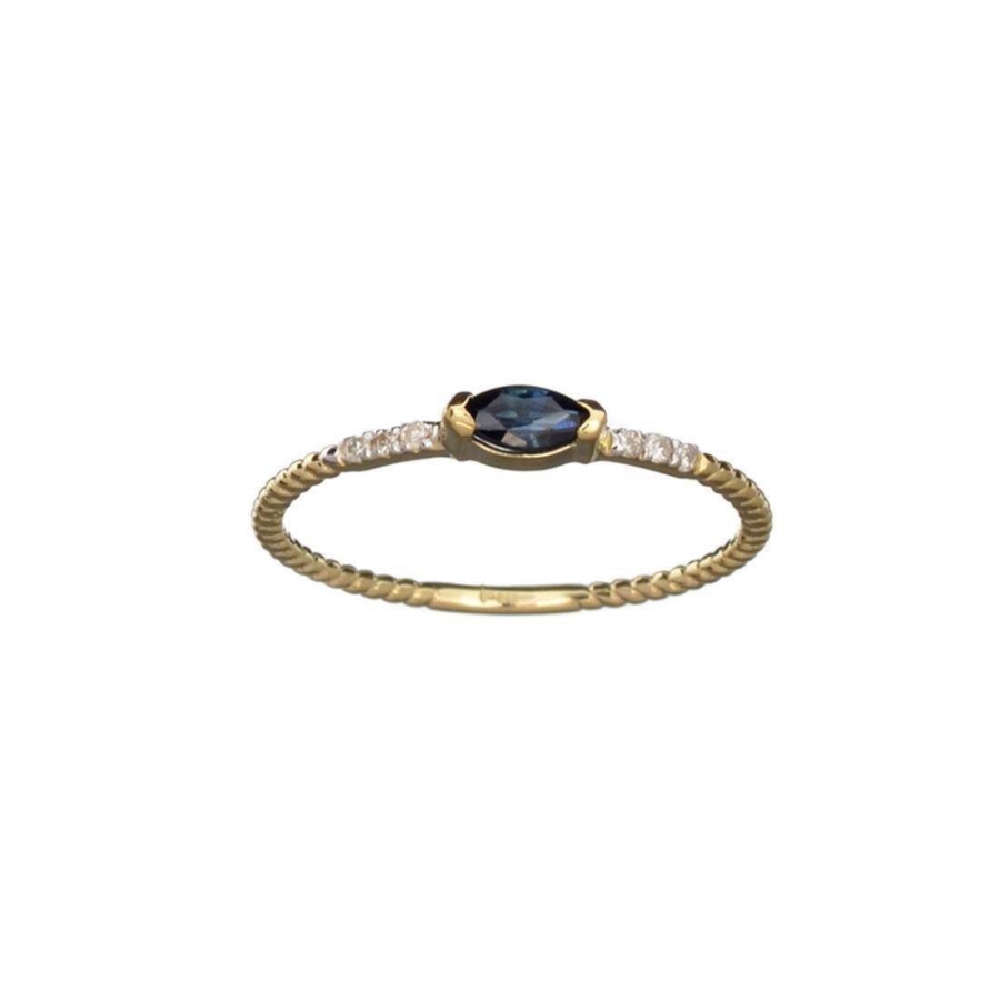 APP: 0.5k Fine Jewelry 14KT Gold, 0.20CT Blue Sapphire