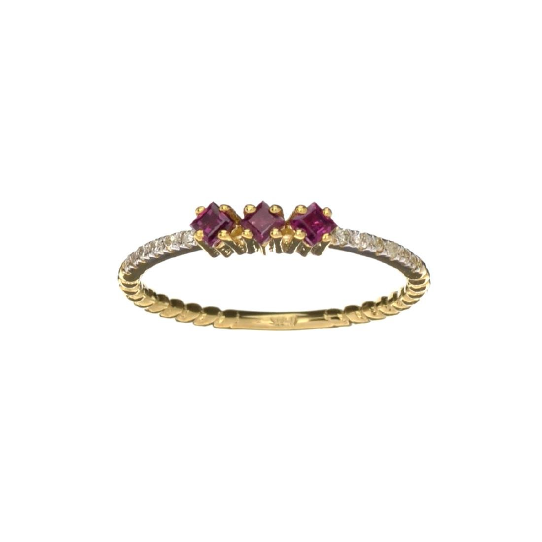 APP: 0.6k Fine Jewelry 14KT Gold, 0.20CT Ruby And