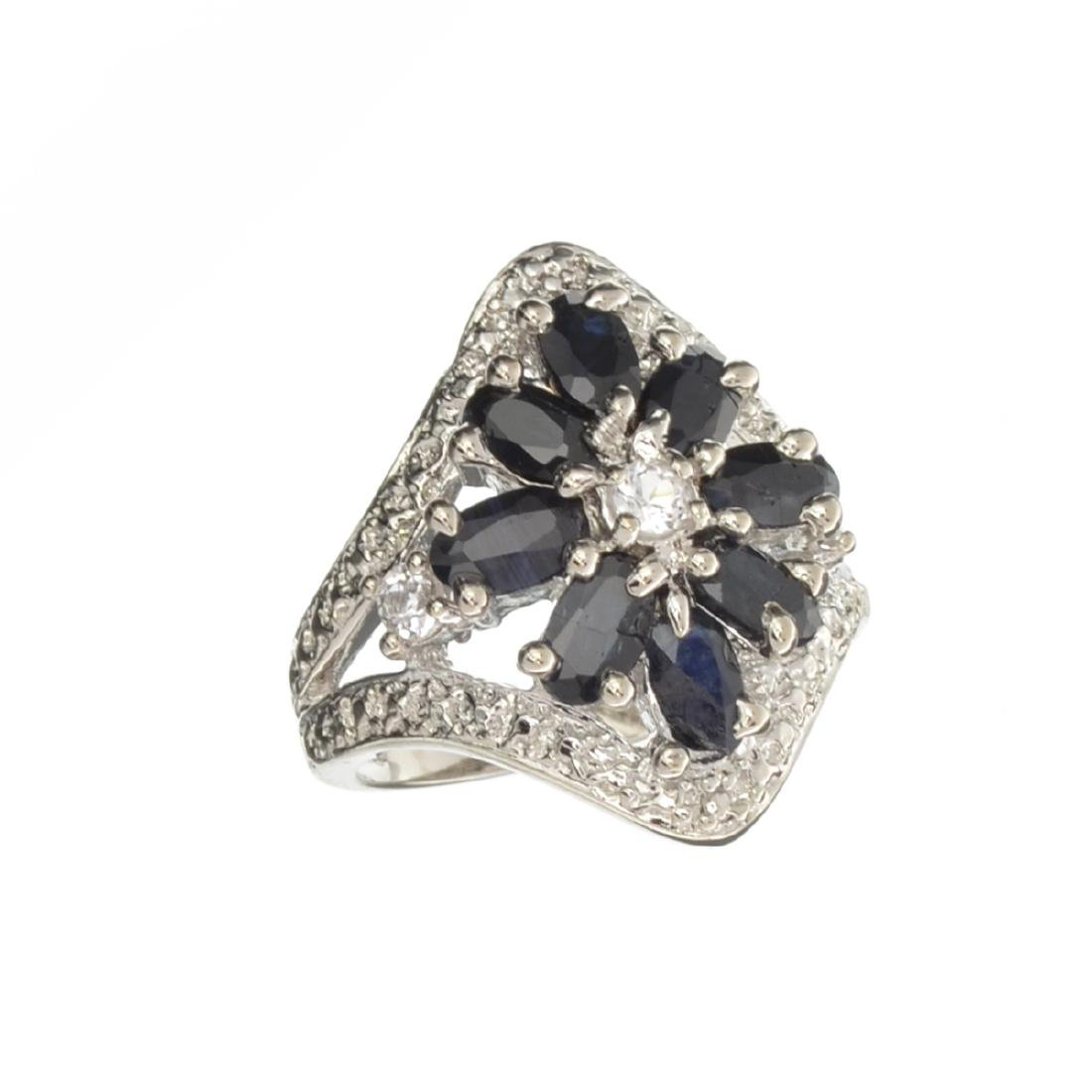 APP: 0.9k Fine Jewelry 2.30CT Blue And White Sapphite
