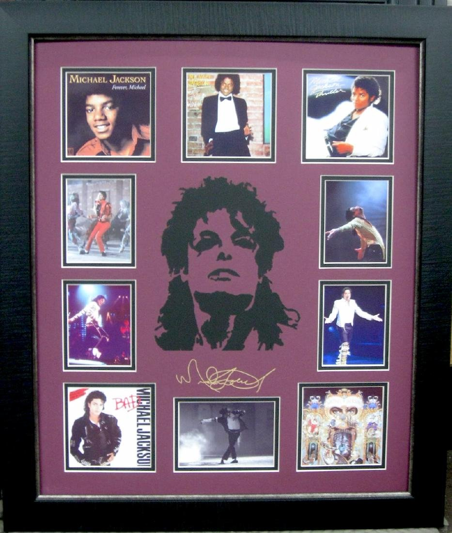 Michael Jackson Engraved Signature Laser Cut Mat