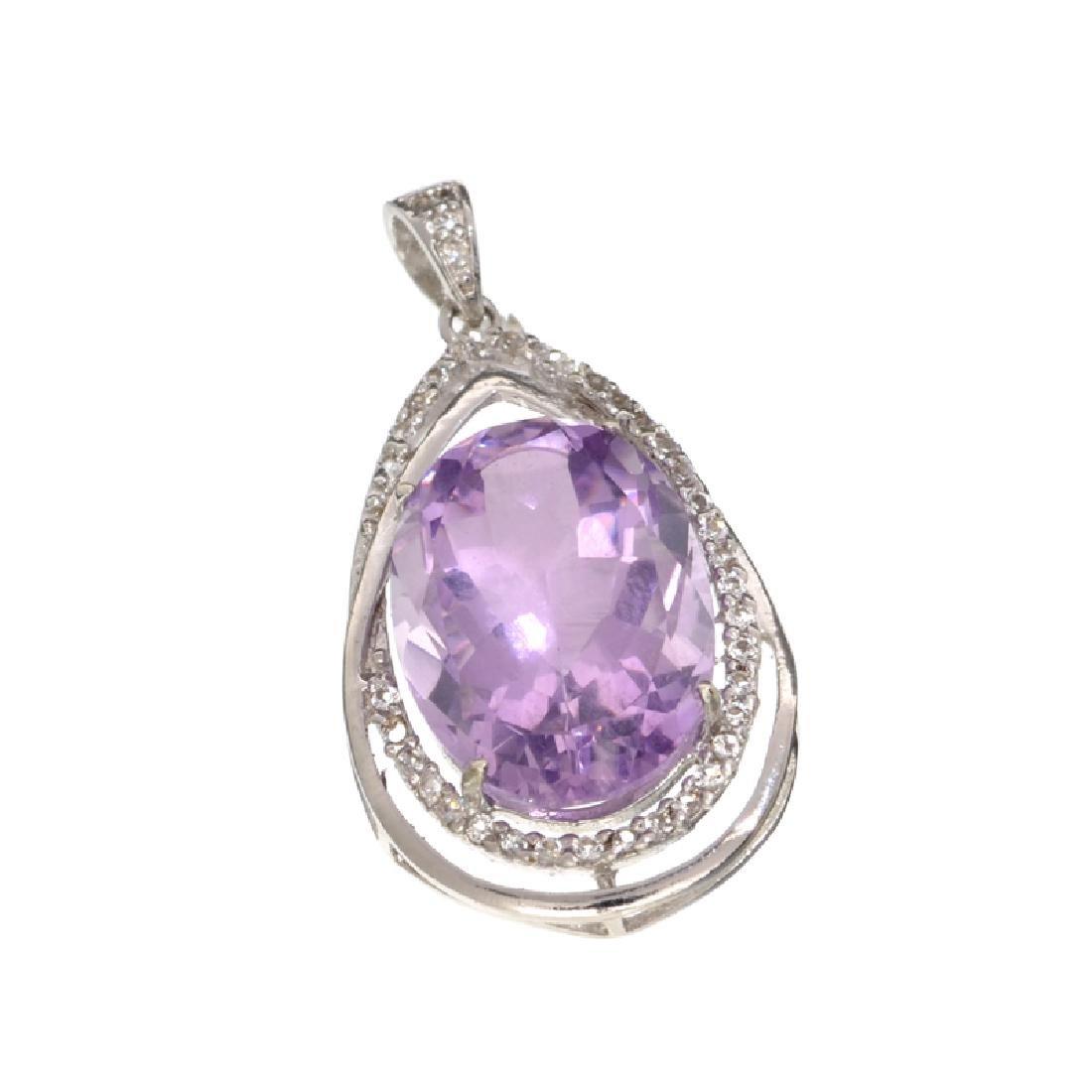 APP: 1.2k 11.45CT Purple Amethyst And White Sapphire