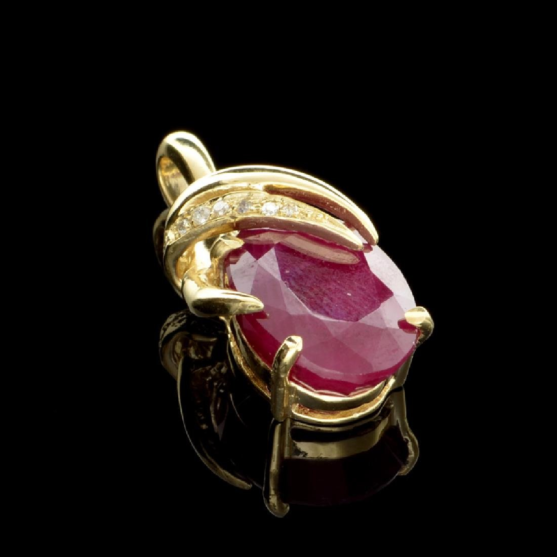 APP: 2.6k Fine Jewelry 14 kt. Gold, 12.08CT Ruby And