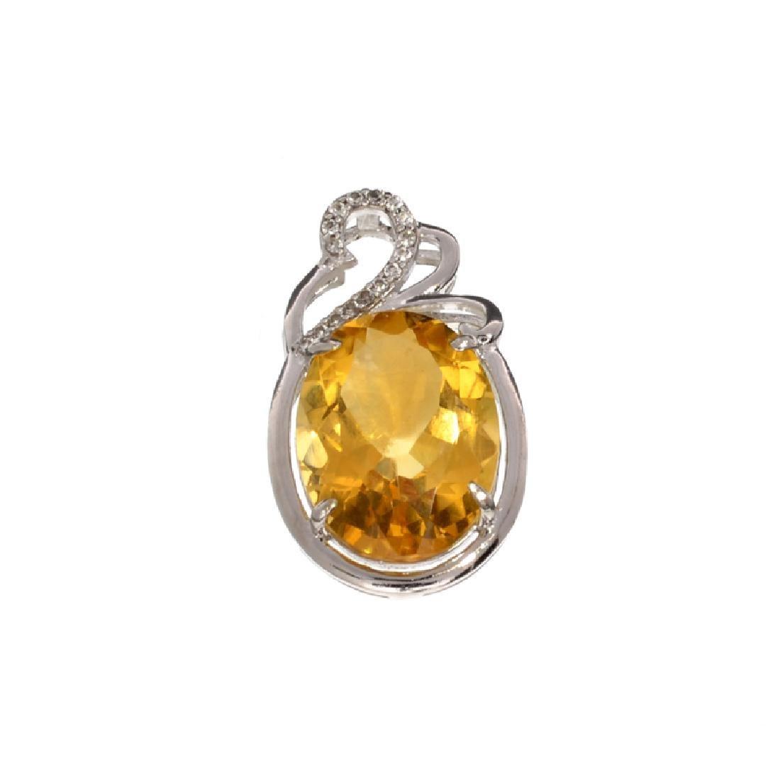 APP: 0.8k Fine Jewelry 10.70CT Citrine And White