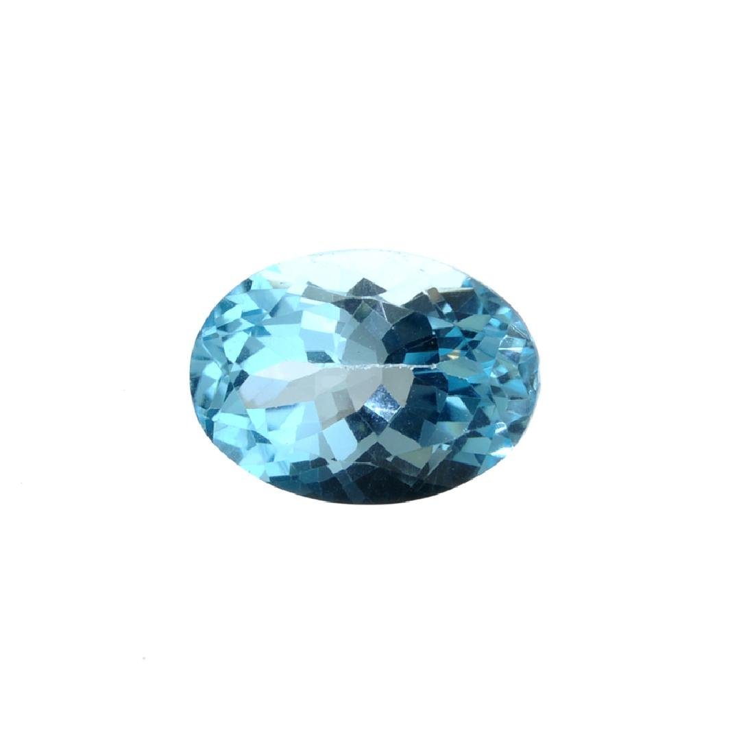 APP: 0.4k 14.19CT Oval Cut Blue Topaz Gemstone