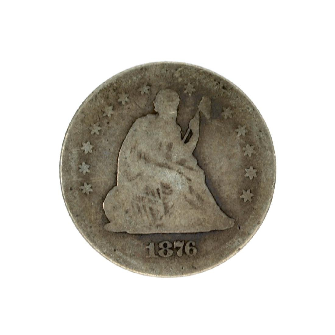 1876-S Liberty Seated Quarter Dollar Coin