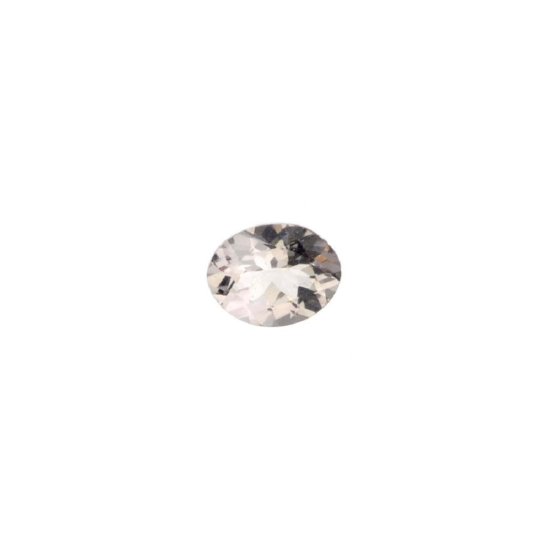 APP: 1k 1.38CT Oval Cut Morganite Gemstone