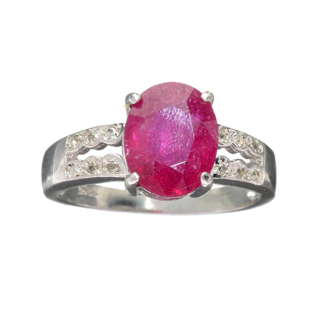 APP: 1.8k Fine Jewelry 3.00CT Ruby And Colorless Topaz