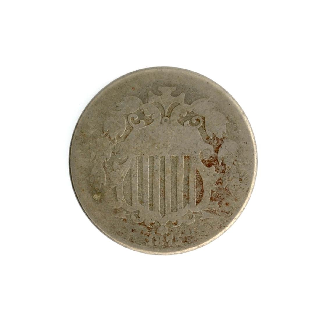 1875 Shield Nickel Coin