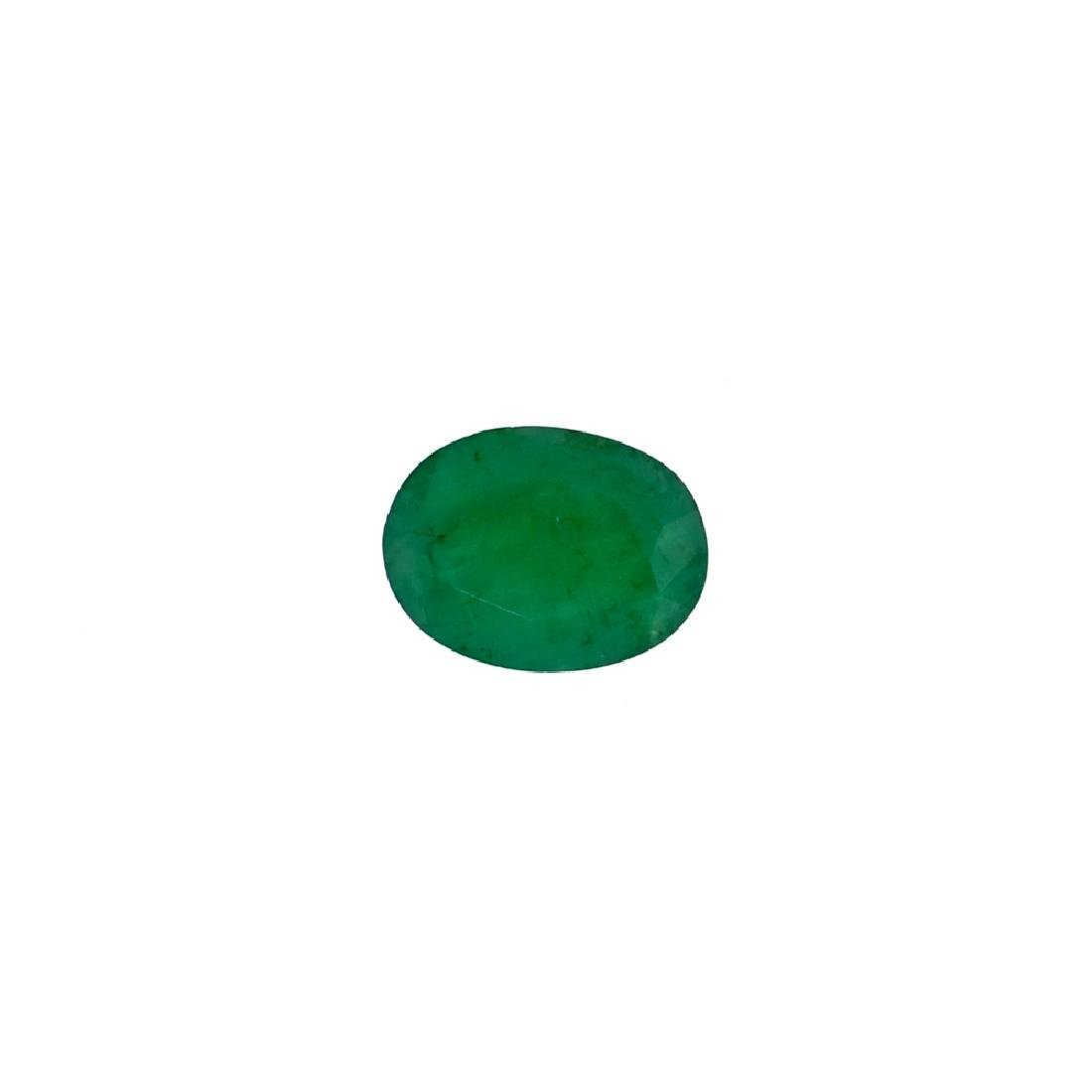APP: 3.1k 3.06CT Oval Cut Green Emerald Gemstone